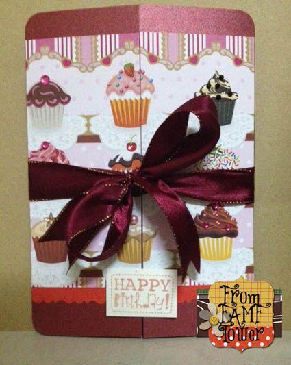 Happy Birthday Card Cupcake Card Kartu Selamat Ulang Tahun Kartu Ulang Tahun Kerajinan Kertas