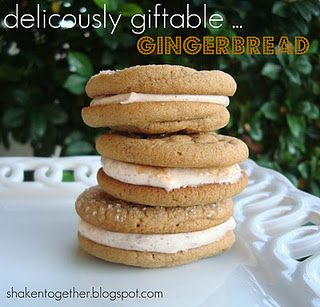 Gingerbread Sandwich Cookies @ Pressed Down Shaken Together