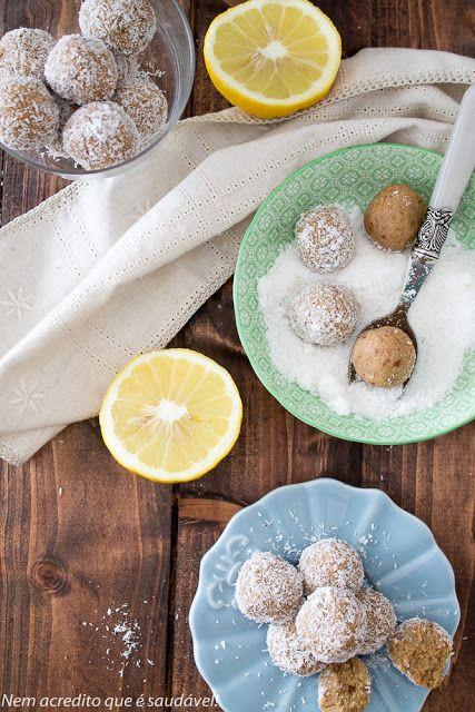 Bolinhas de millet e limão (vegan, sem glúten, sem açúcar)....