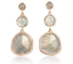 The Siren Small Cocktail Earrings in #rosegold and #labradorite