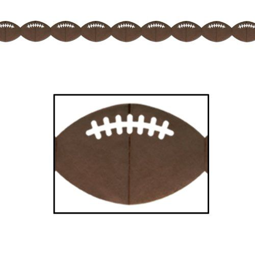 Football Garland Party Accessory (1 count) (1/Pkg) *** To view further, visit http://www.amazon.com/gp/product/B000R4N1XM/?tag=christmas3638-20&pwx=260916200117
