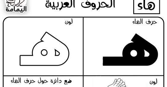 الحروف الابجدية العربية اليمامة Learning Arabic Math Learning