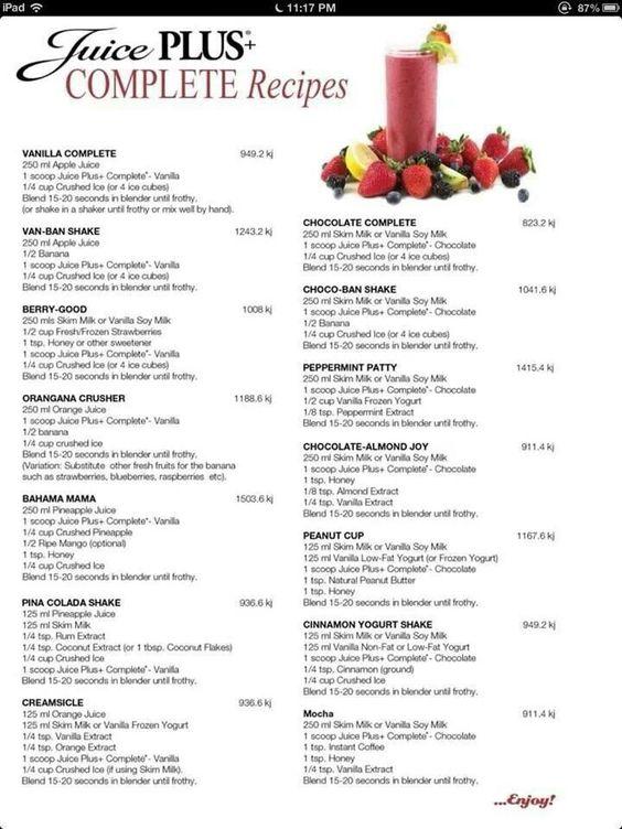 Smoothies using Juice Plus Complete #juiceplus #onlywholefoods #vegan   www.juiceplus.co.uk/+at49465