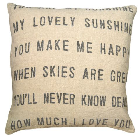 You Are My Sunshine Pillow – Heart