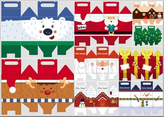 cajas lunch para navidad para imprimir gratis ideas y material gratis para fiestas y
