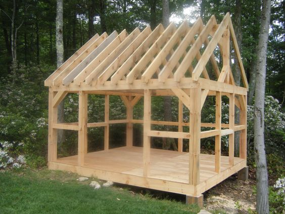 Village Post And Beam Barns And Sheds Gardening
