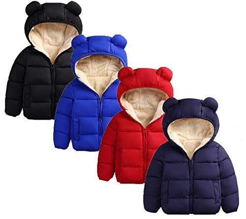 Toddler Kids Baby Girls Boys Winter Tops Hooded Vest Jackets Waistcoat Clothes
