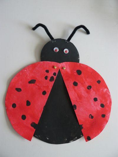 blog de lilou activit s diverses d 39 une assistante maternelle coccinelle bricolage insecte. Black Bedroom Furniture Sets. Home Design Ideas