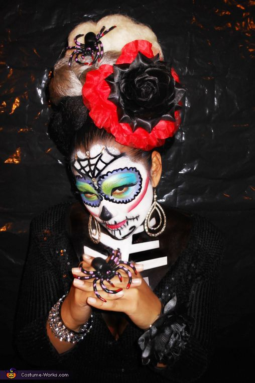 Sugar Skull inspired by Dia De Los Muertos - Halloween Costume Contest via @costumeworks