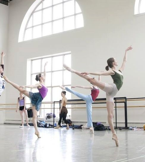 "Beautiful arabesques! When your arm is that high, we called it ""imperial arabesque"" instead of first arabesque."