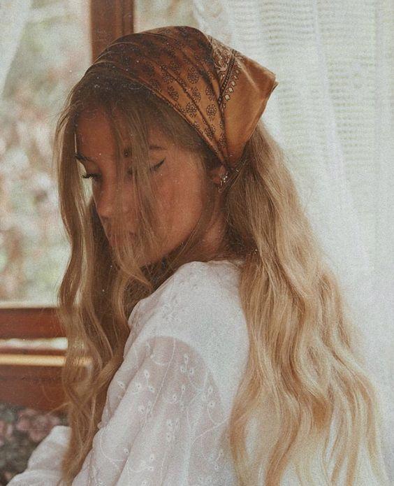 Pinterest Lexibolster Hair Styles Long Hair Styles Scarf Hairstyles