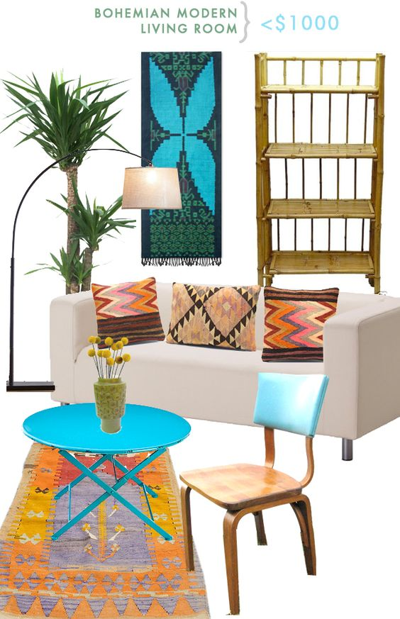 Rooms > $1000: Bohemian-Modern Living Room