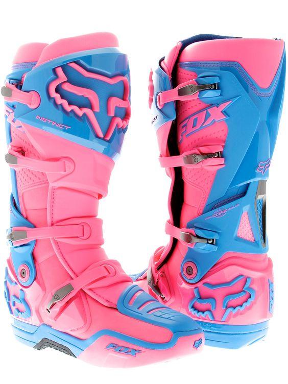 Fox Pink Image Atlanta Supercross Limited Edition Instinct MX Boot. I really want!!