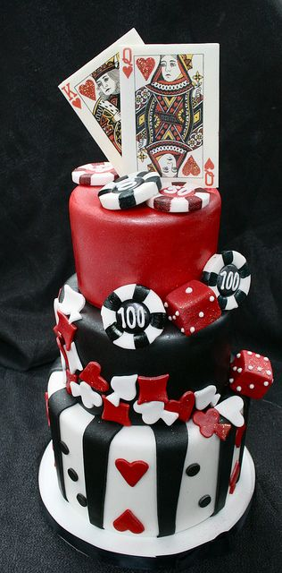 Vegas themed tiered cakelet by Gimme Some Sugar (vegas!), via Flickr