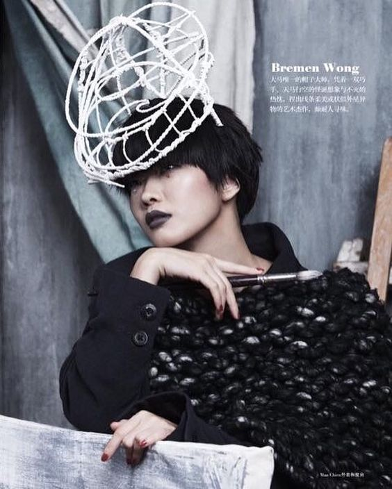 """Bremen Wong Millinery """" Nebulosity """" Hat feature at @sistersmalaysia August issue 2016 .  Styled by Eng Seng @yongshen82  Photographer by @june_ng90  Make up by @chufan  Hair by Chaiki  Outfit by @manchienn"""