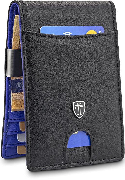 """TRAVANDO Money Clip Wallet/""""RIO/"""" Mens Wallet Front Pocket Wallet Slim Wallets RFI"""