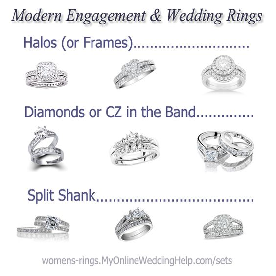 Different Styles Of Wedding Rings Wedding Ring Styles Ring Styles And Wedding Ring On Pinterest