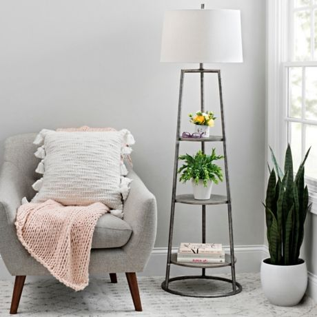 Floor lamp with shelves, Ikea
