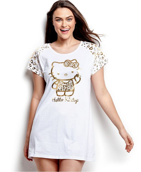 Age Group Plus Size Sleepshirt, Hello Kitty Shine On Sleepshirt ...