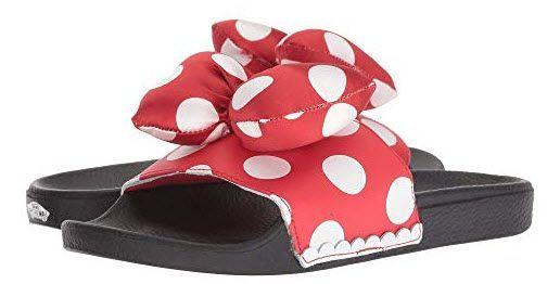Minnie Mouse bow   Vans slides