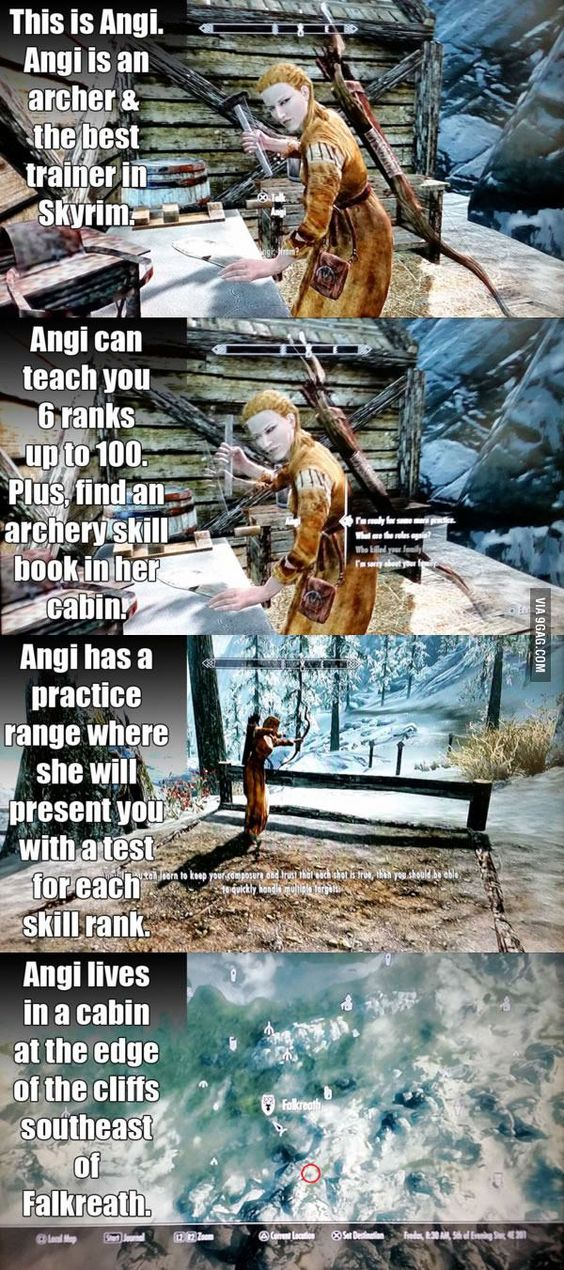 """""""Skyrim"""" facts. As an archer myself, I should totally go find her!"""