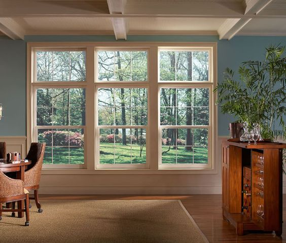 Triple Double Hung Windows : Transoms over doors hung windows triple mulled are