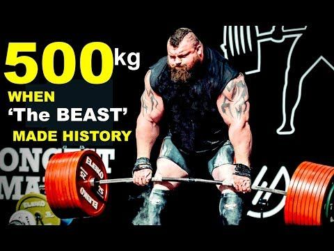 Eddie Hall The 500kg Deadlift World Record Set At Giants Live