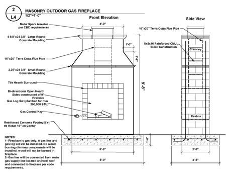 Free Plans Build Outdoor Fireplace Outdoor Gas Only Fireplace The Second