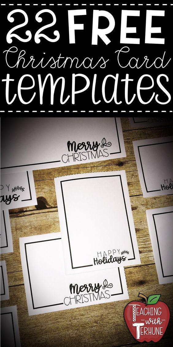 Free Christmas Card Templates Great To Use For Students To Make Christmas Cards Fo Christmas Card Templates Free Christmas Card Template Christmas Cards Free
