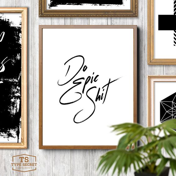 DO EPIC SHIT quote art dorm printable dorm prints Do Epic Stuff quote print dorm room wall art typography quote prints dorm typography by TypeSecret on Etsy https://www.etsy.com/listing/262713907/do-epic-shit-quote-art-dorm-printable
