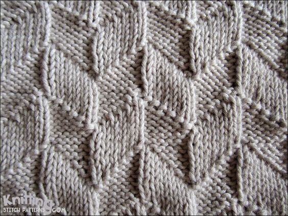 Lifeline Knitting Purl : This easy design uses only the knit k and purl p