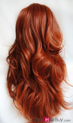 Copper red hair clip-in