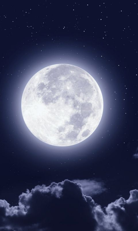 Downaload Full Moon Clouds Night Sky Wallpaper For Screen