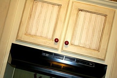 Fabulous i did this in black in my kitchen beadboard for Black beadboard kitchen cabinets