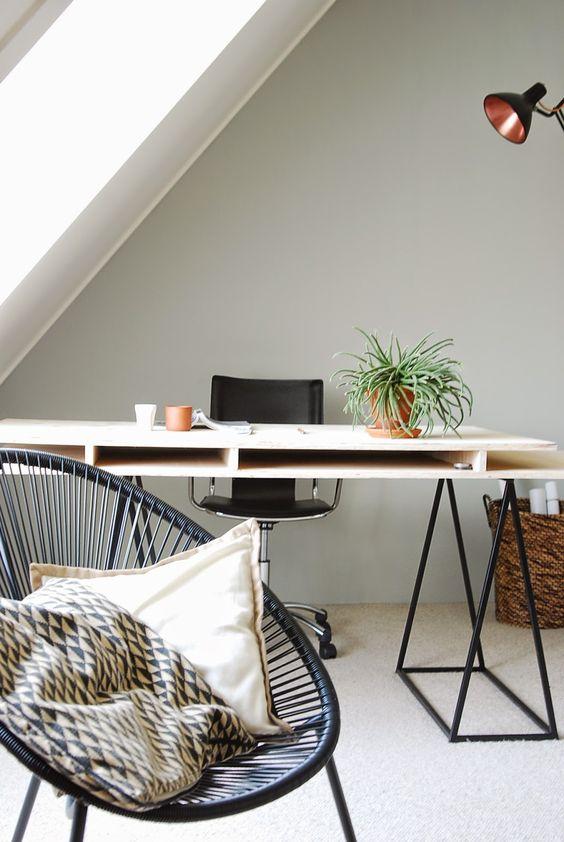 Workspace DIY...low budget make-over!   - Acapulco, schragen, underlayment, vintage