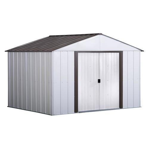 Arrow Common 10 Ft X 8 Ft Interior Dimensions 9 85 Ft X 7 5 Ft Galvanized Steel Storage Shed At Lowe S This Arrow 1 Steel Storage Sheds Storage Shed Shed