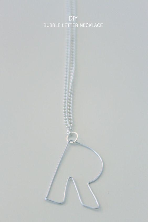 Bubble-Letter-Necklace