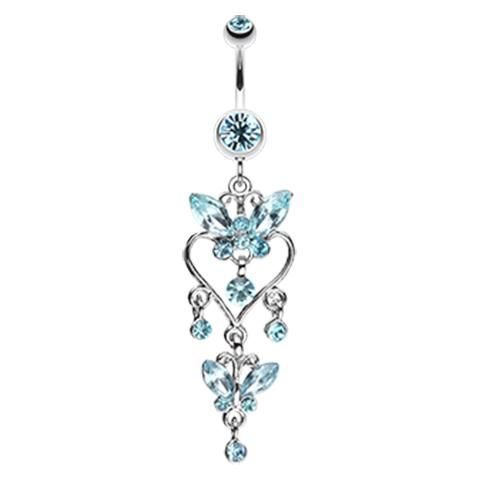 Sophistique Butterfly Chandelier Belly Ring Belly Piercing Jewelry Belly Button Piercing Jewelry Belly Jewelry