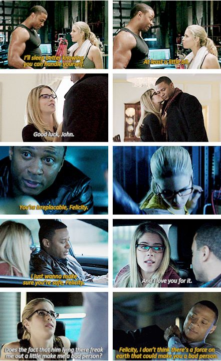 Diggle and Felicity #Arrow ♥ like brother and sister