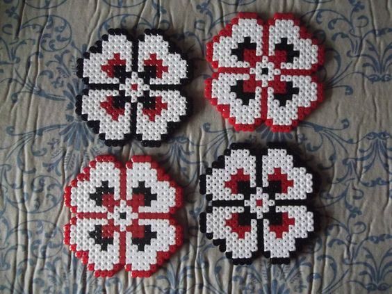 Flower Set of Coasters and Stand from FramedBits on Storenvy