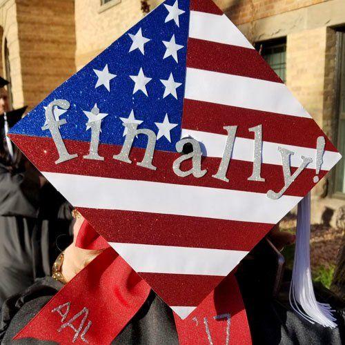 America Flag Finally Graduation Cap Jpg Graduation Cap