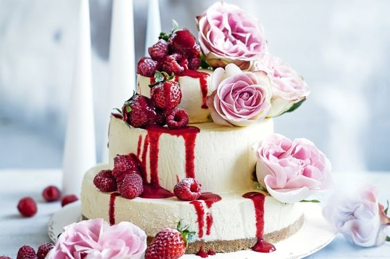 Cheese cake for wedding cake because I don't like cakes and cheesecake is better! :)