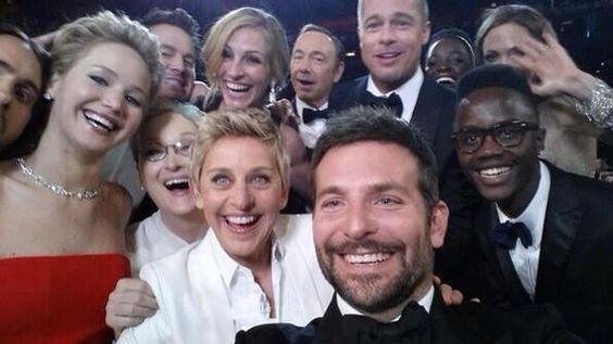 Oscar Selfie. Ellen Degeneres is the best!