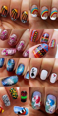 Lots of fun nail art tutorials.