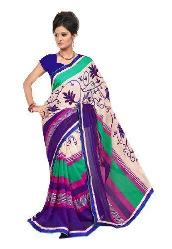 Fabdeal Indian Designer Marble Chiffon Off-White Printed Saree Fabdeal, http://www.amazon.de/dp/B00INWQ592/ref=cm_sw_r_pi_dp_vp8otb14KYBHJ