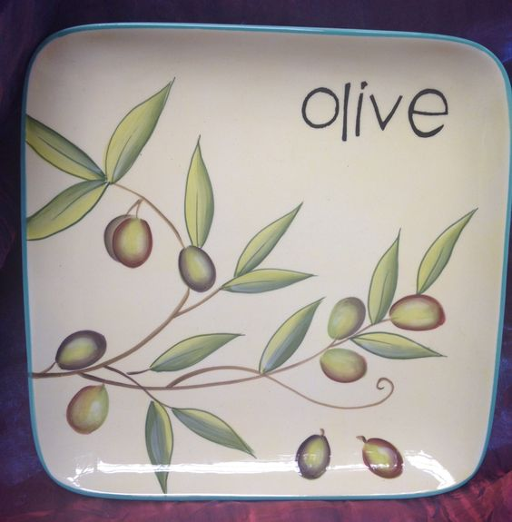 "Cypress Handpainted Ceramic Plate 8.75"" Taste of Italy"