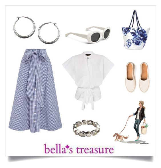 """Summer Styling with Bella's Treasure"" by freida-adams ❤ liked on Polyvore featuring Lisa Marie Fernandez, Joules, Silver, earrings, hoop, sterling and bellastreasure"
