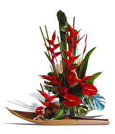 arranjos ikebana heliconia e orquidea - Pesquisa Google