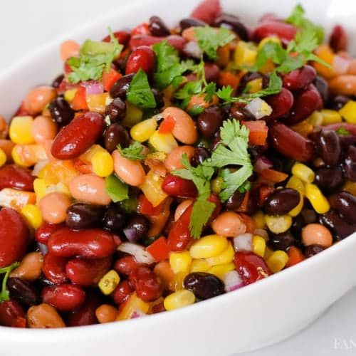 3 Bean Salad Recipe Mexican Side Dish Bean Salad Recipes Mexican Side Dishes 3 Bean Salad