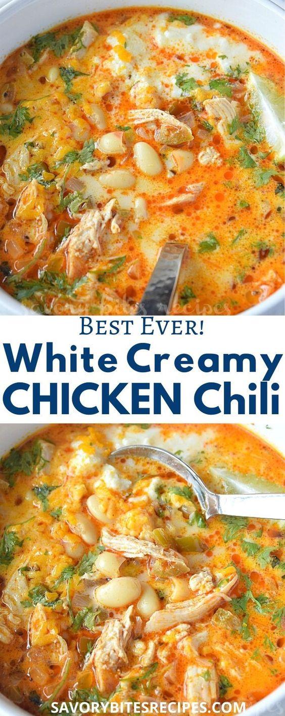 Best Ever White Bean Creamy Chicken Chili!